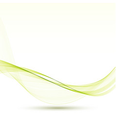 Abstract green wavy lines background vector