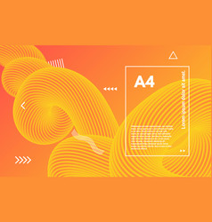abstract orange poster a4 dynamic template vector image