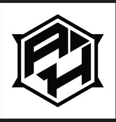 Ah logo monogram design template vector
