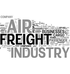 air freight industry text word cloud concept vector image