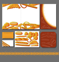 Bakery hand drawn on white background vector