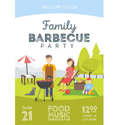Barbeue party announcement vector