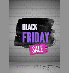 black friday shopping sale realistic poster vector image