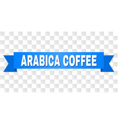 Blue stripe with arabica coffee title vector