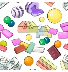 Bubble gum set pattern vector
