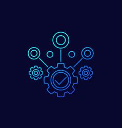 Business efficiency line icon vector