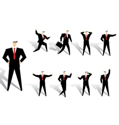 business man action vector image