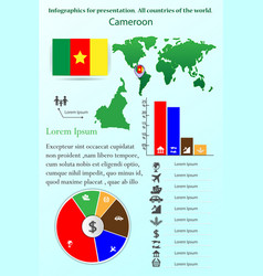 cameroon infographics for presentation all vector image