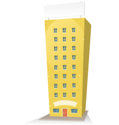 cartoon building with sign vector image