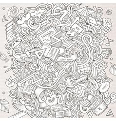 Cartoon hand-drawn doodle on the subject vector