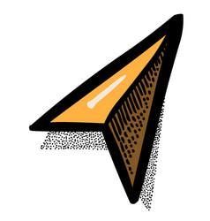 Cartoon image of arrow navigator vector
