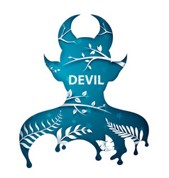 Cartoon paper paper devil characters vector