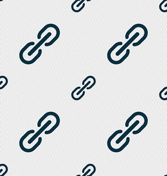 Chain Icon sign Seamless pattern with geometric vector