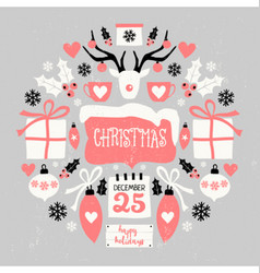 Christmas Symbols Composition vector image