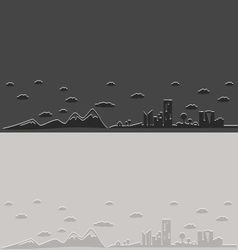 City and nature silhouette vector