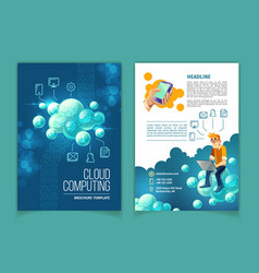 Cloud computing technology brochure vector