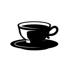 coffee cup isolated on white design element vector image