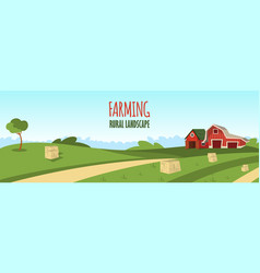 Concept image farming rural landscape vector