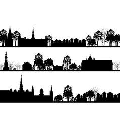 Country Landscape Set vector