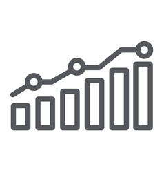 diagram line icon report and graph growth chart vector image