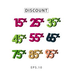Discount set template design vector