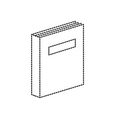 Dotted shape book object to education knowledge vector