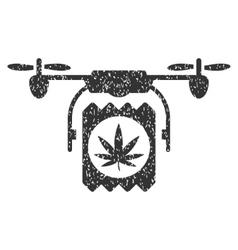 Drone Cannabis Delivery Grainy Texture Icon vector image