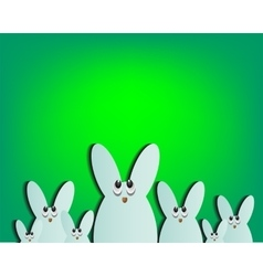 Easter bunnies in eggs vector