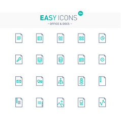 Easy icons 20e files vector