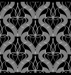 elegant black and white greek seamless pattern vector image