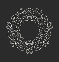 Elegant hand drawn retro floral frame vector