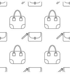 fashionable handbags black and white seamless vector image