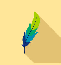 feather icon flat style vector image