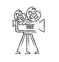 Figure movie camera to projection scene vector