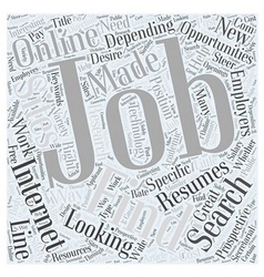 Finding Jobs Online Word Cloud Concept vector
