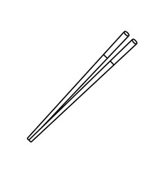 Food chopsticks isolated vector