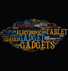 Gadgets word cloud concept vector