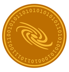 Galaxy digital coin vector