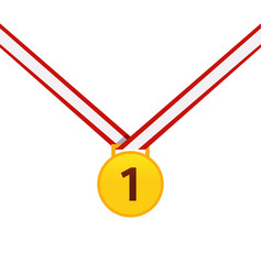 Gold medal isolated on a white background gold vector