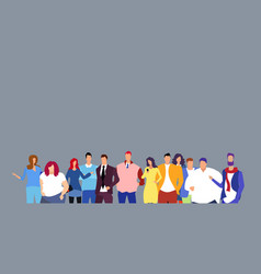group businesspeople people standing together vector image