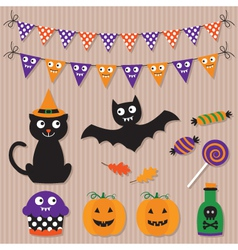 Halloween elements set vector