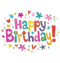 Happy Birthday text 3 vector