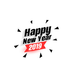 Happy new year 2019 abstract background vector