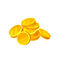 Heap of shiny golden coins money and finance vector