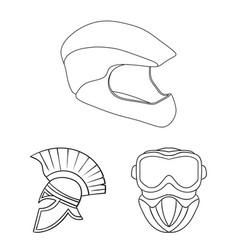 helmet and sport symbol vector image