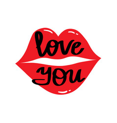 I love you beautiful lettering vector