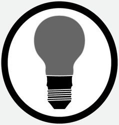 Idea lamp bulb icon black white vector image