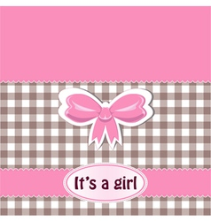 It is a girl vector