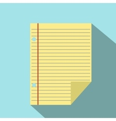 Lined paper notebook icon vector