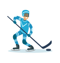 male hockey player character active sport vector image